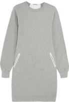 Clu Lace and silk-paneled cotton-jersey mini dress