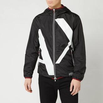 Armani Exchange Men's Large Logo Jacket