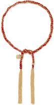 Carolina Bucci Love Lucky 18-karat Gold And Silk Bracelet - one size