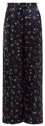 Racil Mama Floral-print Trousers - Womens - Navy Multi