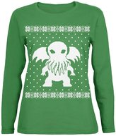 Old Glory Big Cthulhu Ugly XMAS Sweater Womens Long Sleeve T-Shirt