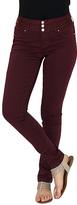Amethyst Jeans Plum Bodycon Triple-Button Jeggings - Plus