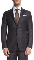 Ermenegildo Zegna Trofeo Plaid Two-Piece Suit, Gray