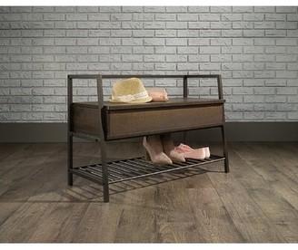 Williston Forge Zandra Solid Wood Shoe Storage Bench Color: Brown