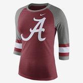Nike College Stripe Sleeve Raglan (Alabama) Women's T-Shirt