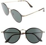 Ray-Ban Women's Blaze 59Mm Round Sunglasses - Gold/ Green