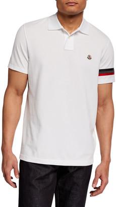 Moncler Men's Reflective Flag Polo Shirt