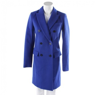 Michael Kors Blue Wool Coat for Women