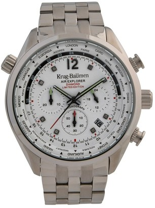Krug Baumen Krug-Baumen 100100DM Mens Air Explorer Diamond Limited Edition Watch
