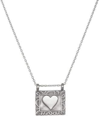 Satya Sterling Silver Framed Heart Necklace