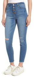 Tinsel Ripped High Waist Ankle Jeggings