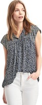 Gap Mix print split-neck blouse