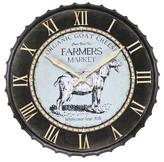 Infinity Instruments Goat Farmers Market Clock - Black