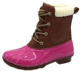 Jessica Carlyle Duck Girls and Boys Lace Up Two Tone Combat Style Calf Rain Duck Boots