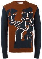 Salvatore Ferragamo intarsia knit jumper