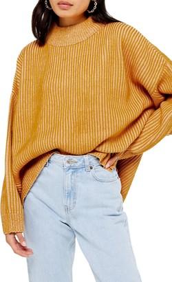 Topshop Mock Neck Sweater