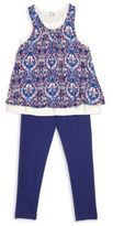 Splendid Toddler's & Little Girl's Two-Piece Layered Tank Top & Leggings Set