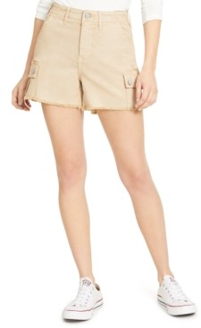 Vigoss Jeans Raw-Edge High-Rise Cargo Shorts