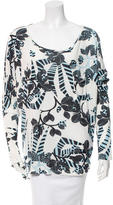 Thakoon Printed High-Low Top w/ Tags