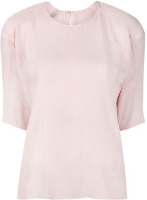 Nina Ricci Short Sleeve Fine-Ribbed Top