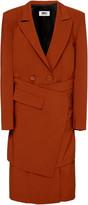 Maison Margiela Wrap-Effect Wool Midi Dress