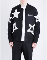 Ktz Star-embroidered Shell Bomber Jacket