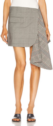 Monse Cascade Suiting Mini Skirt in Black Multi | FWRD