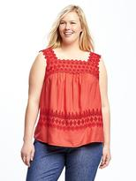 Old Navy Plus-Size Cutwork Swing Tank