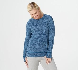 Cuddl Duds Comfortwear Raglan Sleeve Pullover Top