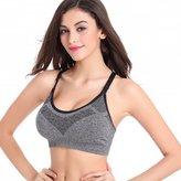 Startony Women Workout Sports Bra Seamless Wire Free Racerback Quick Dry Girl Bra