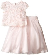 Us Angels Satin & Lace Two-Piece Popover Bolero & Layered Skirt (Little Kids)