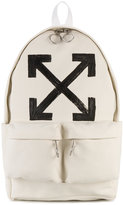 Off-White brushed printed backpack - men - Cotton/Polyester - One Size
