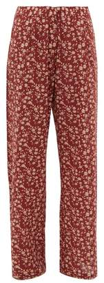 Dodo Bar Or Hattie Floral-print Wide-leg Trousers - Womens - Red Multi