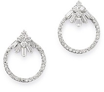 Bloomingdale's Diamond Open Circle Stud Earrings in 14K White Gold, 0.3 ct. t.w. - 100% Exclusive