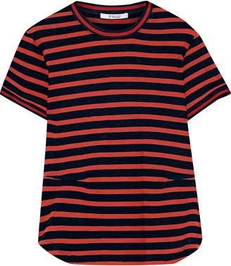 Derek Lam 10 Crosby Striped Pointelle-knit Cotton T-shirt