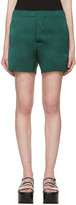 Marni Green Silk Satin Shorts