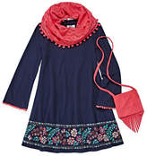 Knitworks Knit Works Long Sleeve Shift Dress - Preschool Girls