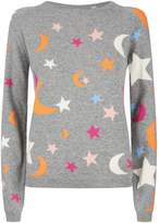 Chinti and Parker Midnight Sky Sweater, Grey, M