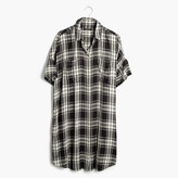 Madewell Courier Shirtdress in Gordon Plaid