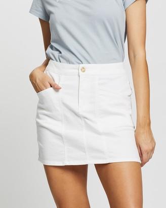 Rusty Women's White Denim skirts - Suncity Skirt - Size One Size, 10 at The Iconic