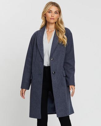 Dorothy Perkins Shawl Collar Soft Breasted Crombie Coat