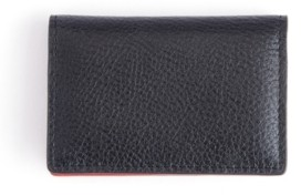 Emporium Leather Co Royce New York Pebbled Leather Snap Closure Card Case