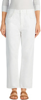 J Brand Ivy High-Rise Crop Straight in White