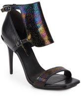 3.1 Phillip Lim Aurora Stingray-Embossed Leather Sandals