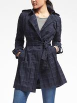 Banana Republic Madras Plaid Trench