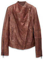 Liebeskind Collarless Leather Jacket