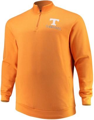 Colosseum Men's Tennessee Orange Tennessee Volunteers Big & Tall Playbook Fleece Quarter-Zip Pullover Jacket