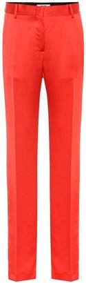 MSGM High-rise straight satin pants