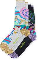 Robert Graham Two-Pack Multicolor Geometric Pattern Socks