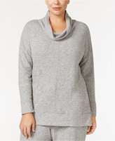 Alfani Plus Size Brushed Cowl-Neck Pajama Top, Only at Macy's